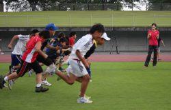 吉田コーチからの指導の写真