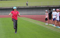 青木選手からの指導の写真