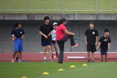 佐藤選手からの指導の写真