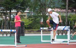 紫村選手からの指導の写真