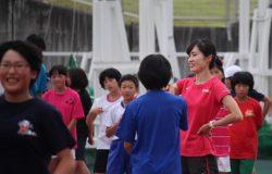 武石選手からの指導の写真