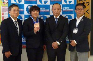 鈴木博恵選手との写真