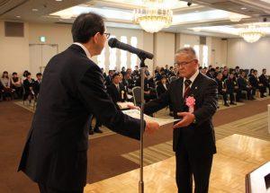 社会体育優良団体賞福島市障害者スポーツ協会の写真