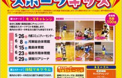 平成31年度ふくしまスポーツキッズ発掘事業ポスター